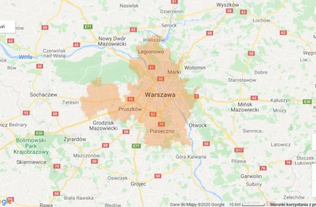zasięg 5G Warszawa
