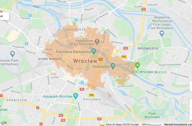 zasięg 5G Wrocław