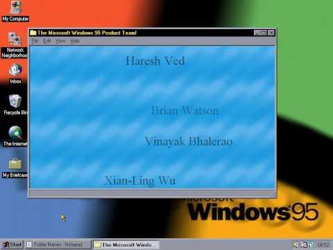 Easter Egg, Windows 95,