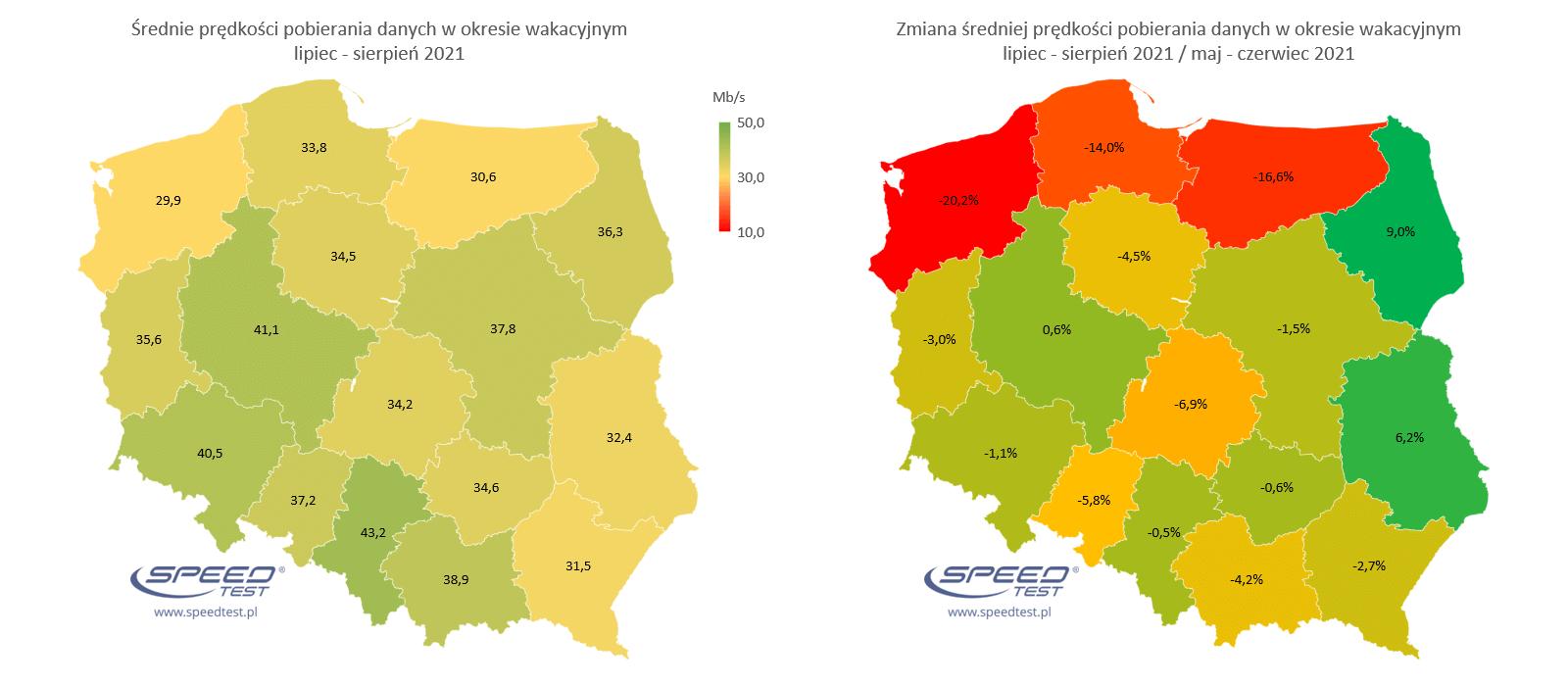 internet mobilny wakacje 2021 mapa